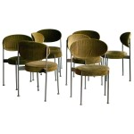 Set of Eight Model No. 430 Chairs by Verner Panton for Thonet