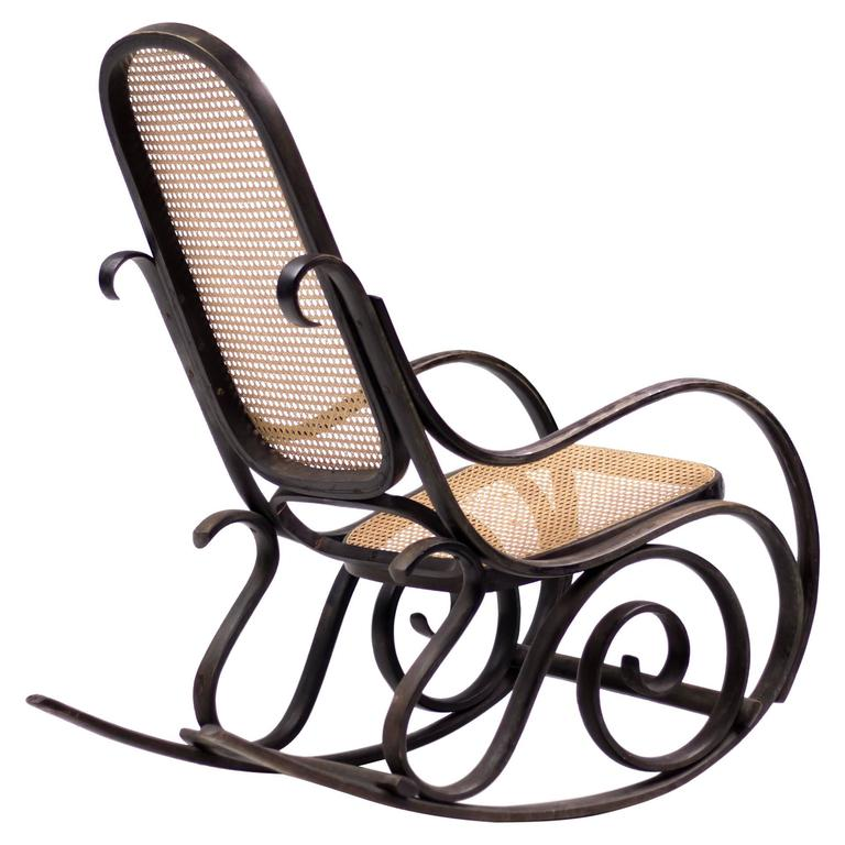 Bentwood Rocker Model #10 With Cane Seat And Back