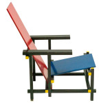 Early Red and Blue Rietveld Chair for Cassina