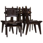 Set of Four Ecuadorian Dining Chairs by Angel Pazmino for Muebles de Estilo