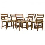 1920s Set of Six Dining Chairs by Mogens Koch for FDB